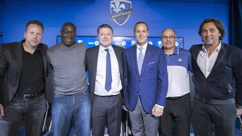 Marc Dos Santos, Rudy Doliscat, Patrice Ferri, Joey Saputo, Valerio Gazzola et Nick De Santis