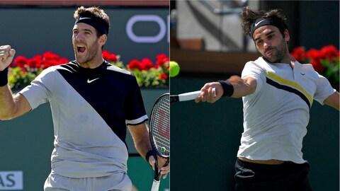 Juan Martin Del Potro et Roger Federer à Indian Wells
