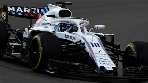 Lance Stroll pilote la Williams FW41 à Barcelone