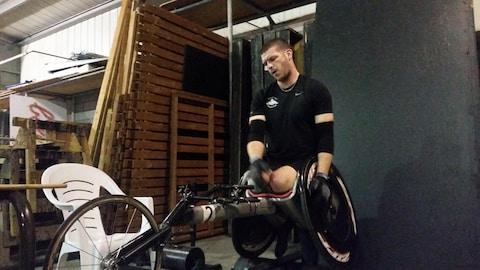 Lee Leclerc à l'entraînement