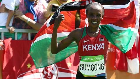 La marathonienne Jemina Sumgong