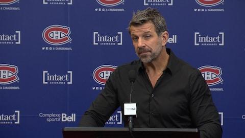 Marc Bergevin en conférence de presse