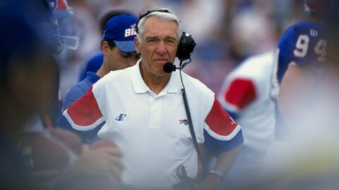 Marv Levy, entraîneur des Bills de Buffalo en 1997