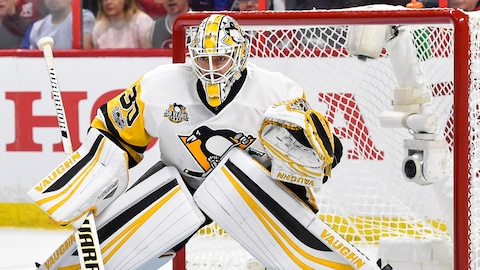 Matt Murray, devant le filet des Penguins de Pittsburgh