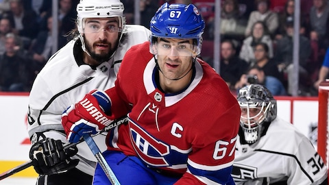 Le capitaine du Canadien de Montréal, Max Pacioretty, lors d'un match contre les Kings de Los Angeles en 2017