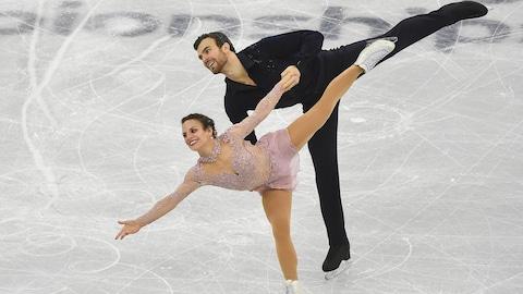 Les patineurs artistiques canadiens Meagan Duhamel et Eric Radford