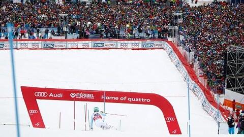 Un slalom lors d'une Coupe du monde de ski alpin à Méribel