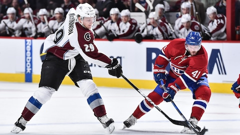 Nathan MacKinnon et Paul Byron