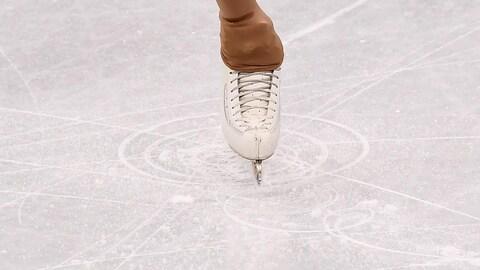 Un patin sur la glace