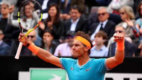 Rafael Nadal défend son titre à Rome.
