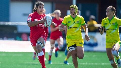 Le Canada en rugby féminin à sept contre l'Australie
