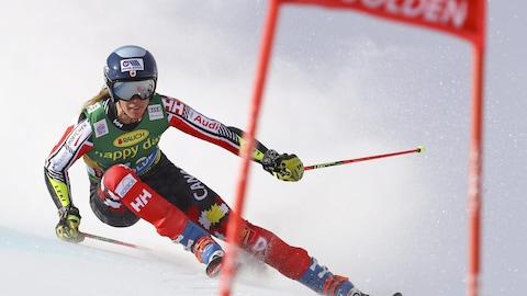 La Québécoise Marie-Michèle Gagnon a pris le 24e rang du slalom géant à la Coupe du monde de Soelden, en Autriche.