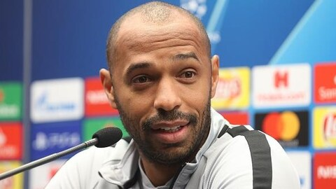 Thierry Henry, en 2018, alors qu'il dirigeait l'AS Monaco