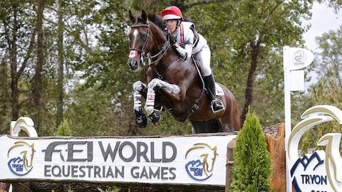 Selena O'Hanlon et Foxwood High en action aux Jeux équestres mondiaux