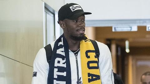 Usain Bolt arrive en Australie