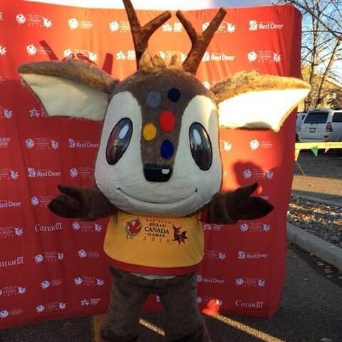 Waskasso, la mascotte des Jeux du Canada Red Deer 2019
