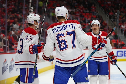 Max Pacioretty célèbre le but de Brendan Gallagher.