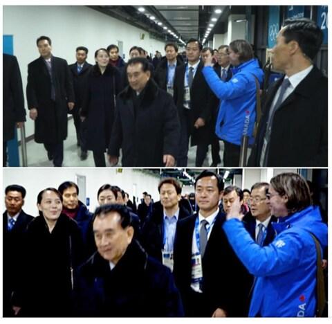 Jean-René Dufort salue la sœur du dirigeant nord-coréen Kim Jong-un.