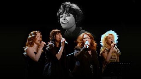 Jorane, Luce Dufault, Laurence Jalbert et Marie-Jo Thério rendent hommage à Pauline Julien.