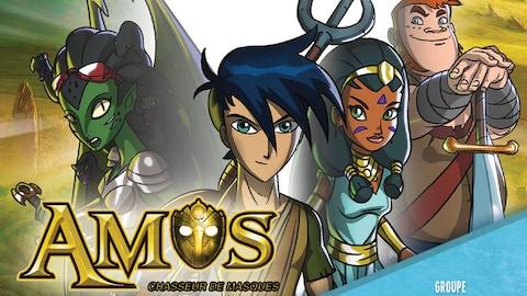 Quatre personnages de dessin animé