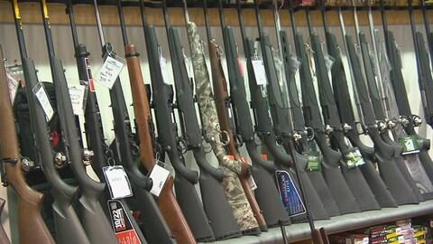 Fusils chez un marchand