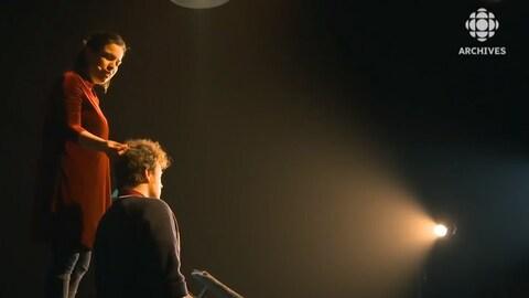 Natacha Kanapé Fontaine et Xavier Huard jouent dans la pièce de théâtre Muliats.