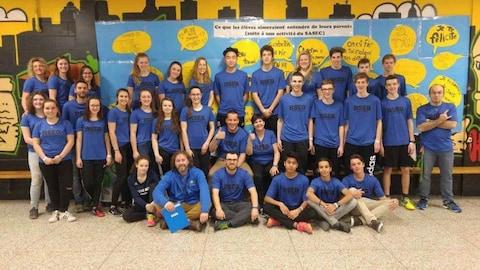 Membres de l'équipe de badminton de l'Est du Québec.