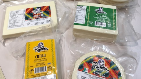 Plusieurs fromages latinos