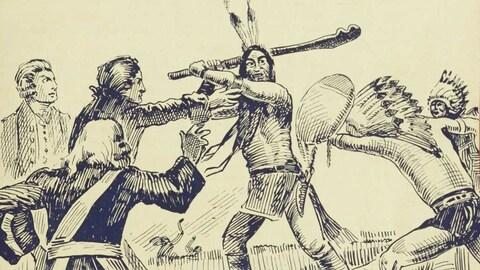 Couverture du livre  Le massacre de Lachine : roman canadien historique .