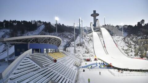Les installations olympiques de Pyeongchang pour le saut à ski