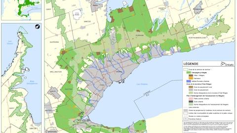 Une carte du sud-ouest de l'Ontario