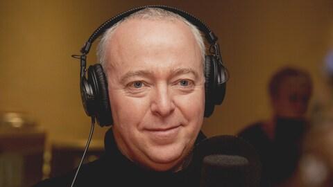 Guy Jodoin au studio 18 de Radio-Canada, à Montréal, le 22 octobre 2018.