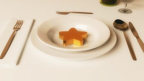 Une étoile dans une assiette représente la pression que représente la critique gastronomique pour un restaurant.