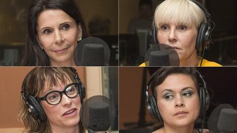 Tina Karr, Pénélope McQuade, Martine Delvaux et Lolitta Dandoy au micro de Catherine Perrin.