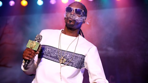 Le rappeur Snoop Dogg pendant un spectacle donné à Los Angeles le 15 octobre 2016.