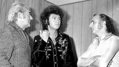 Félix Leclerc, Robert Charlebois et Gilles Vigneault à la Superfrancofête de 1974