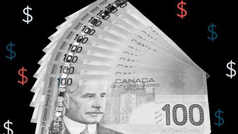Des billets de 100$ canadiens