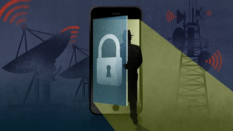 Illustration d'intru dans le monde cellulaire