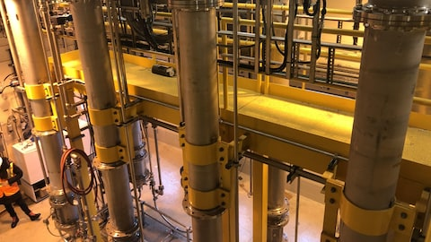 L'intérieur d'une usine