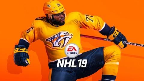 Le joueur de hockey P. K. Subban en couverture du jeu «NHL 19».