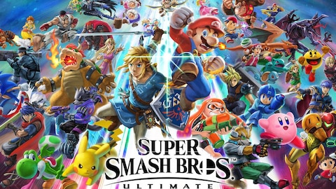 L'affiche de la plus récente version du jeu «Super Smash Bros».