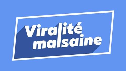 Le terme viralité malsaine écrit sur fond bleu
