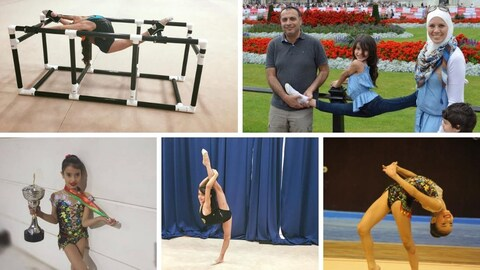 Plusieurs photos de Jana Alemam qui fait de la gymnastique depuis l'âge de 3 ans.