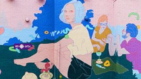 La murale créée par Marc O'Brien.