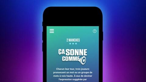 Une capture d'écran du jeu  Ça sonne comme de l'application mobile Silence, on joue!