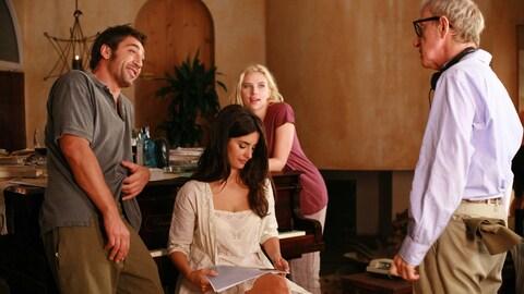 Le cinéaste et ses trois acteurs