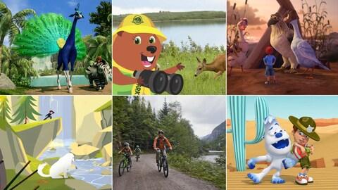 Visuels de ces belles émissions pour enfants
