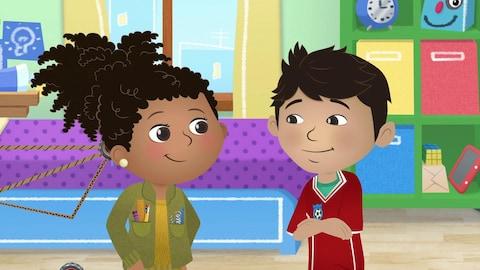 Alicia et son ami sont dans leur chambre et discutent pour trouver une solution à leur problème.