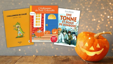 L'Halloween de Chloé, L'Halloween de Petit Gribouillis, Une tonne et demie de bonbons.