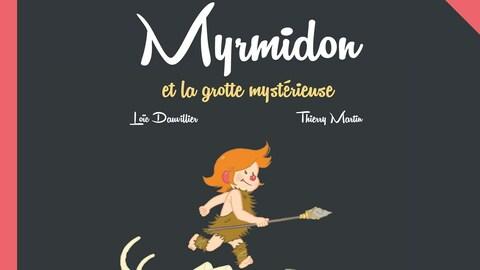 Couverture du livre : un enfant court en tenue préhistorique